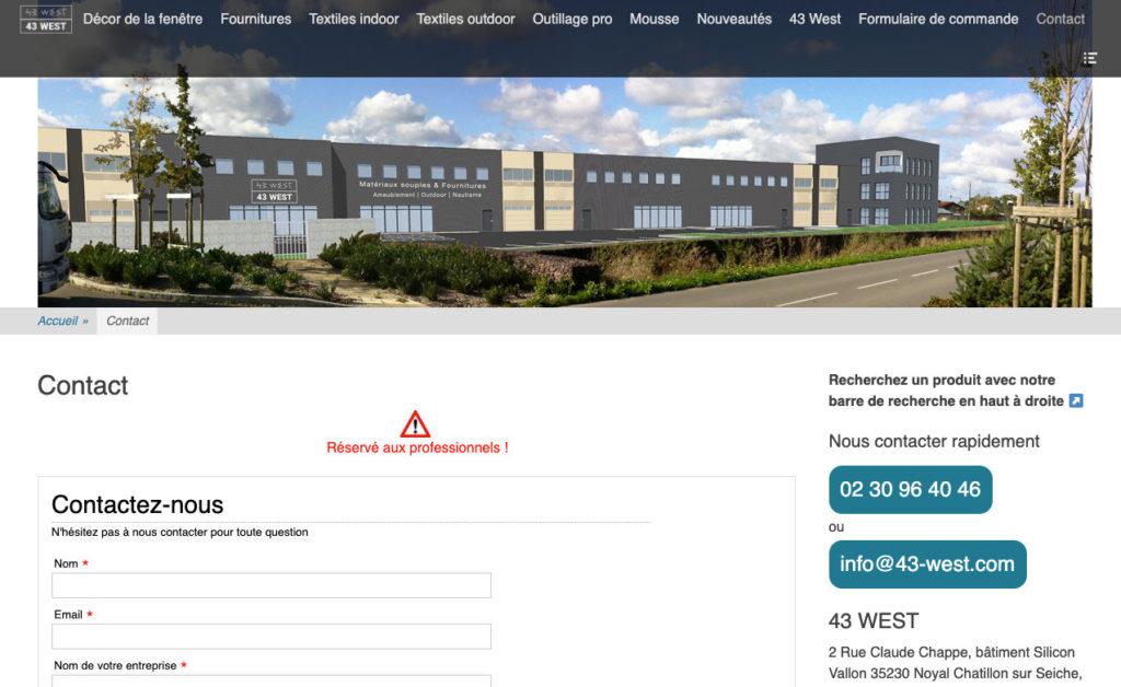 43 West 4 Creation Site Web