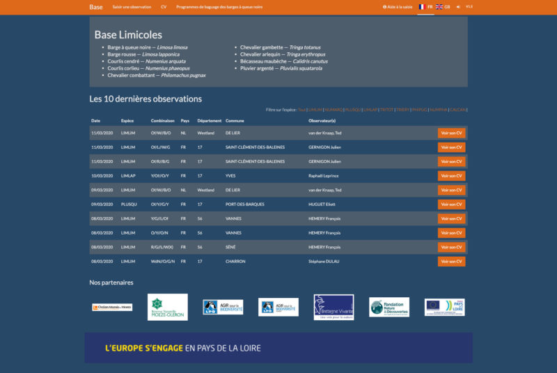 Base Limicoles 3 Developpement Web Sur Mesure