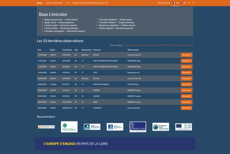 Base Limicoles 3 Developpement Web Sur Mesure
