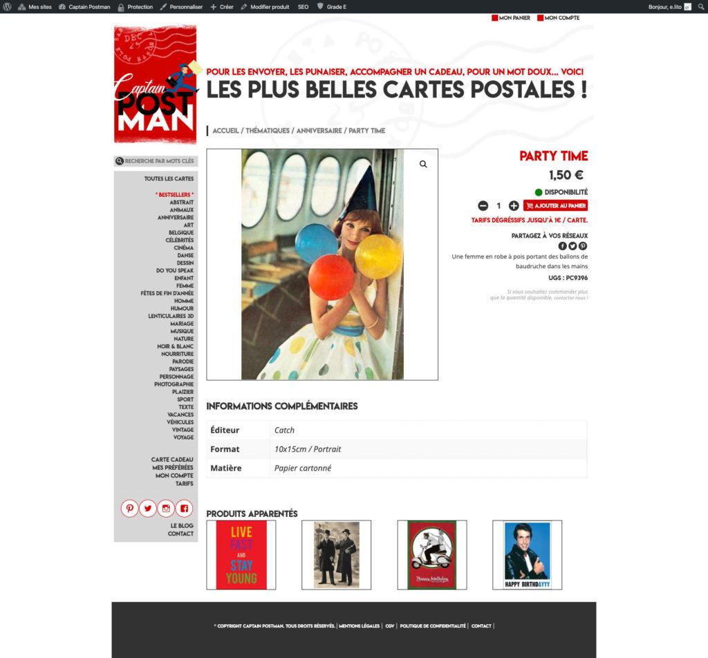 Captain Postman 5 Creation Site Web