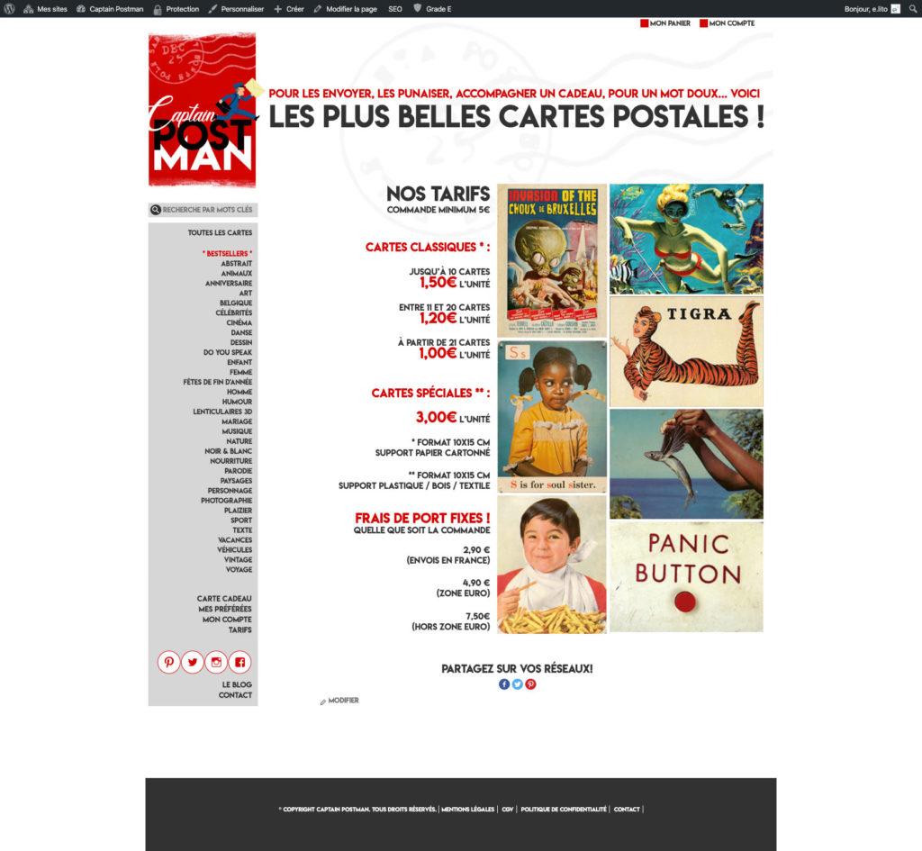 Captain Postman 6 Personnalisation Theme WordPress