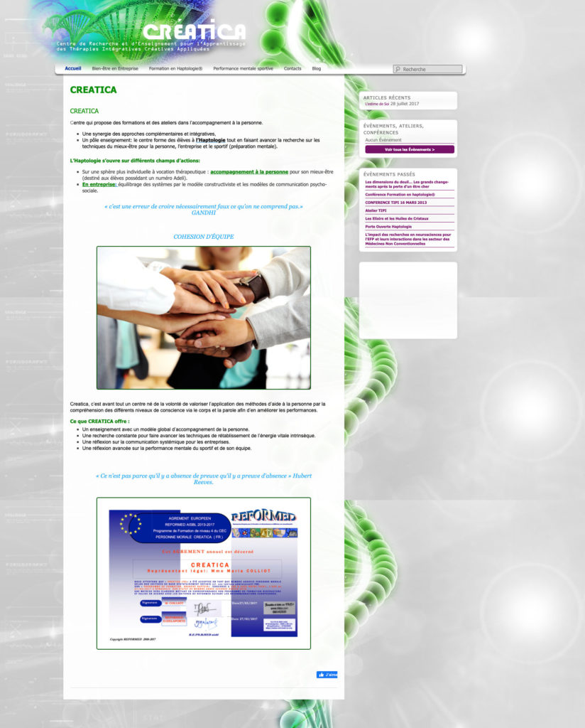Ceatica 3 Site Web WordPress