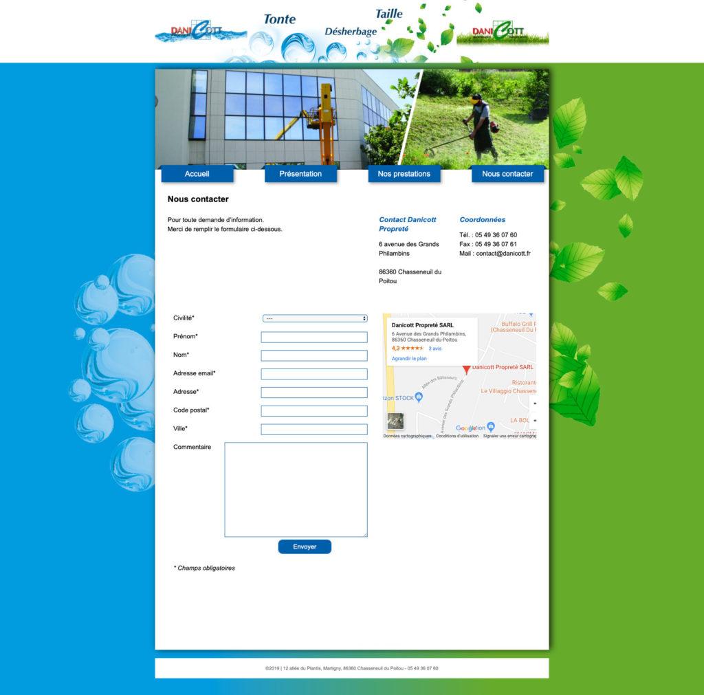 Danicott 8 Site Web Freelance