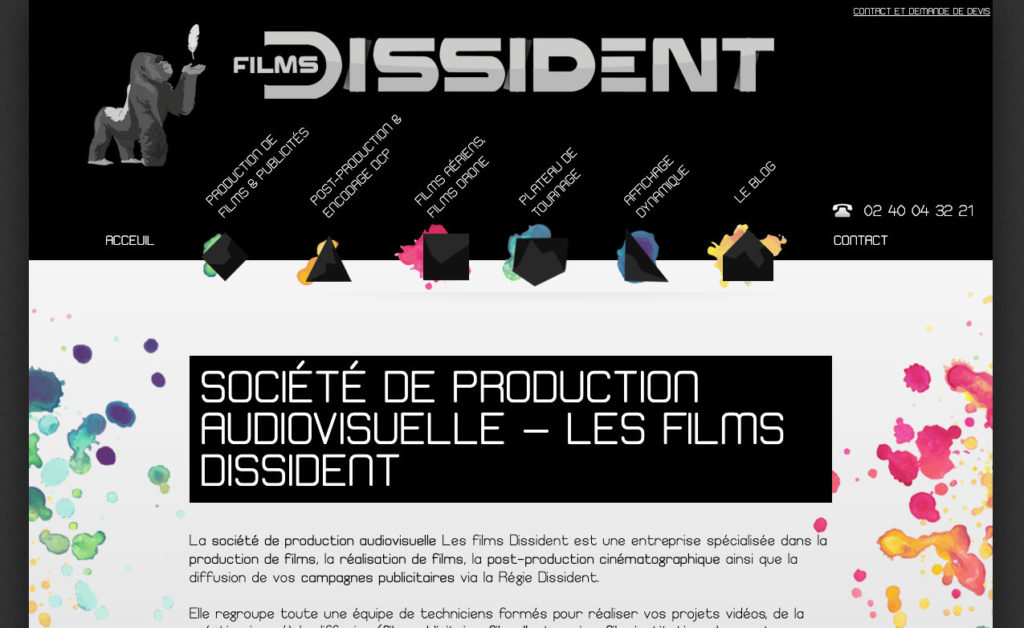 Les Films Dissident 1 Creation De Site Internet