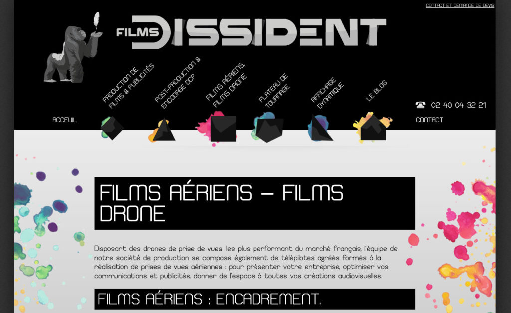Les Films Dissident 3 Site Web Referencement