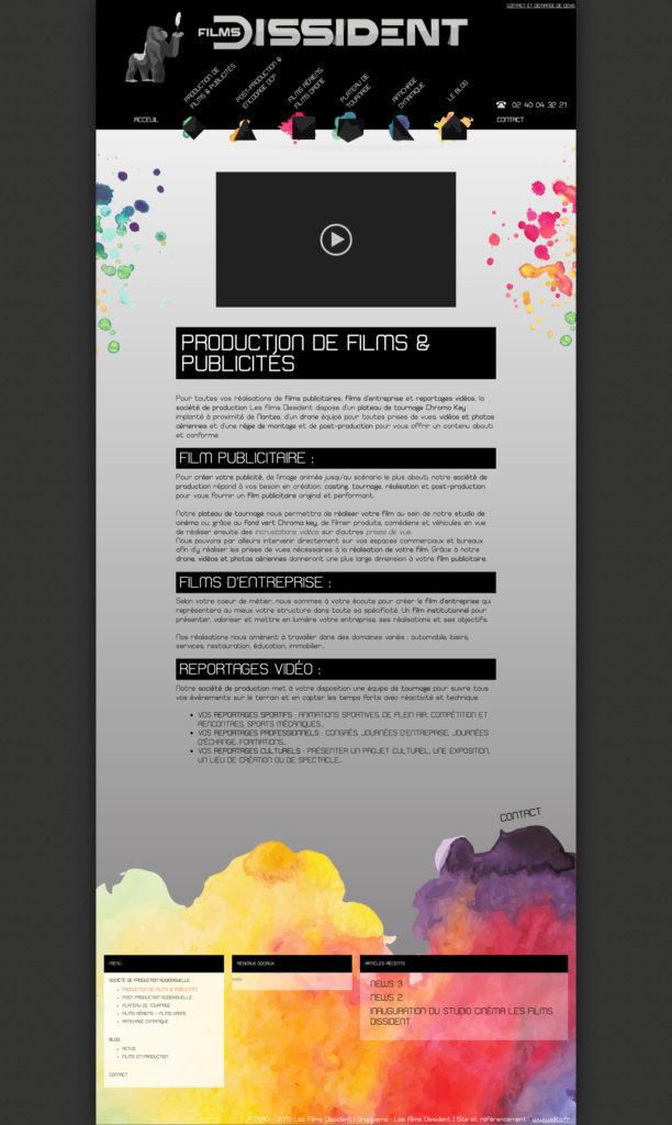 Les Films Dissident 9 Creation Theme WordPress