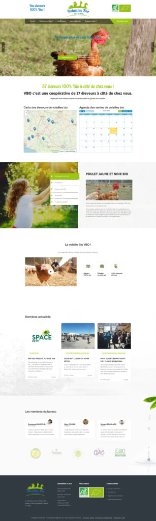 Volailles Bio De Louest 1 Creation Site Internet Cooperative