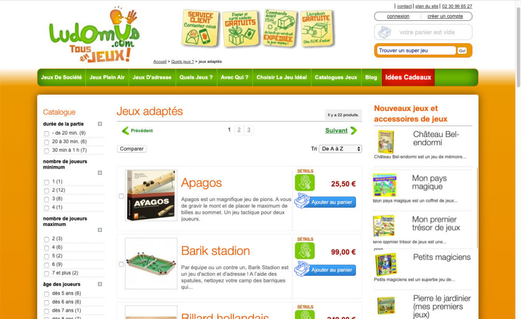 Ludomus 2 Creation Site E Commerce