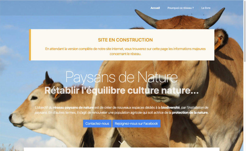 Paysans De Nature Minisite 1 Creation Site Temporaire