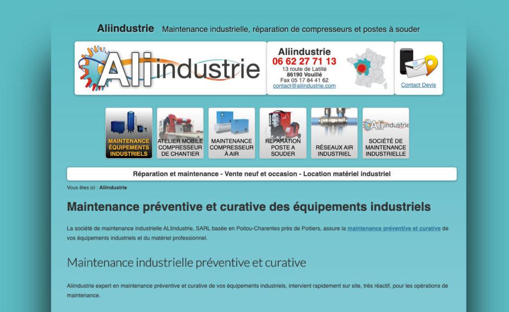 Aliindustrie 1 Creation Site Internet