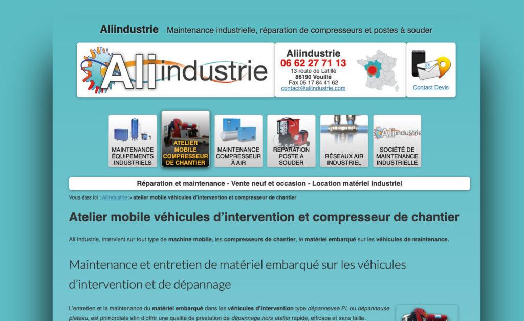 Aliindustrie 2 Site Internet WordPress
