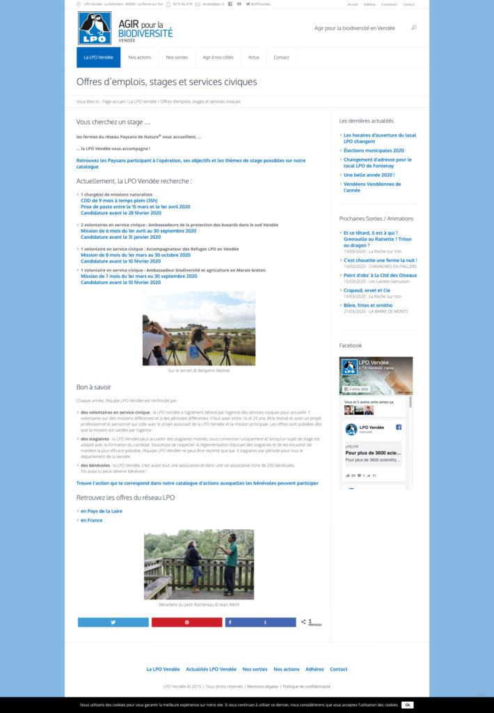 Lpo Vendee 10 Site Internet Facilitateur Gestion Asso