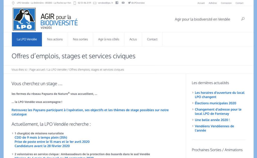 Lpo Vendee 2 Site Web Outil Structure Associative